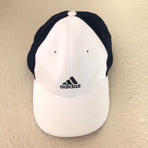 Adidas White & Blue Golf Hat Size L/XL